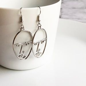 Jewelry - NEW Human Face Earrings (silver color)